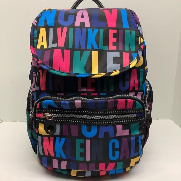 645d68c1dcb Calvin Klein Bags | Athleisure Nylon Logo Backpack | Poshmark